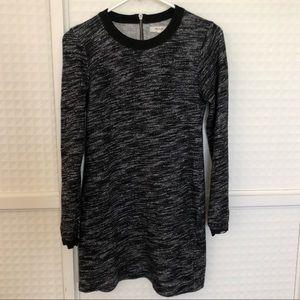 Madewell Marled Charcoal Grey Longsleeve Minidress